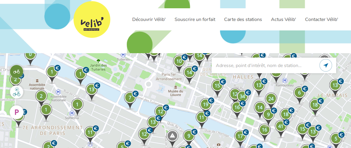 "Paris ""Velib"" Cycles usage analysis"