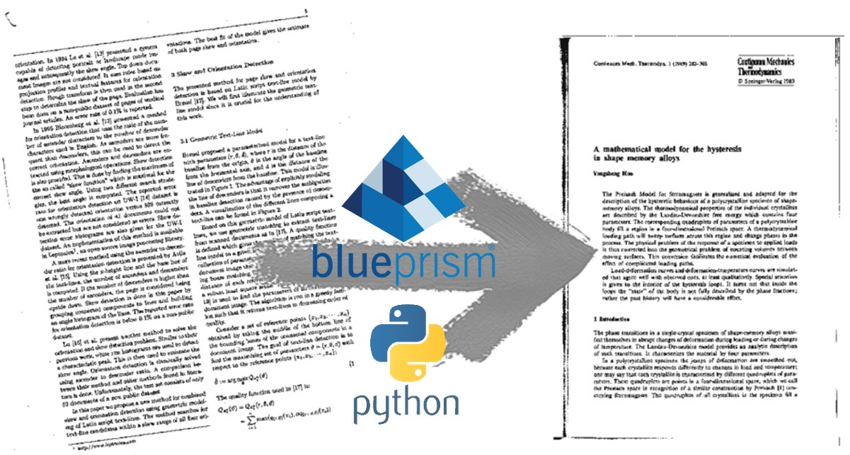 Automate image straightening with Blue Prism and Python